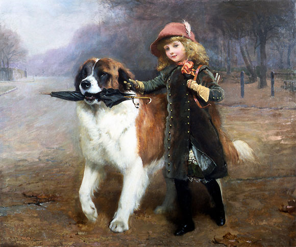Charles Burton Barber  Off to school