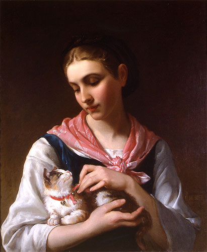 Emile Munier The Favorite Kitten. 1874
