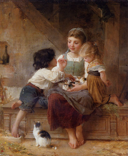 Emile Munier A happy family. 1879