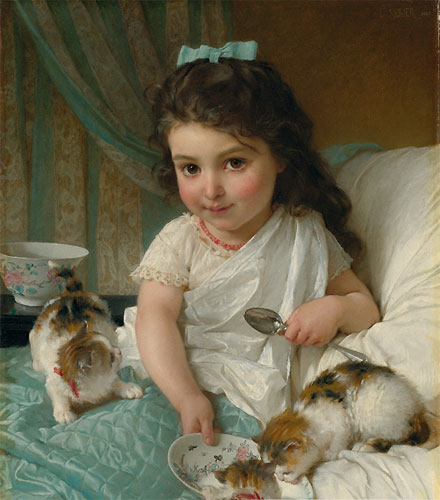 Emile Munier The morning meal. 1880