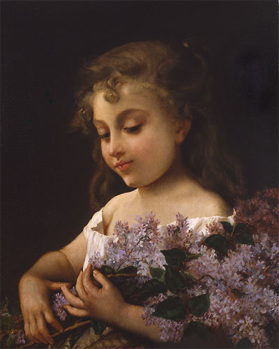 Emile Munier Girl with lilacs. 1887