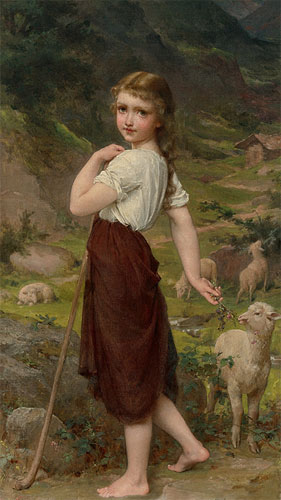 Emile Munier On the mountain. 1887