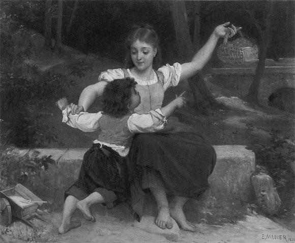 Emile Munier Out of reach. 1888
