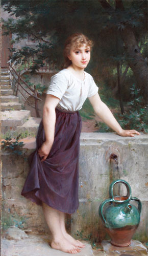 Emile Munier Gathering water. 1890