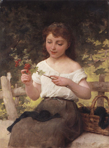 Emile Munier A sprig of berries. 1891