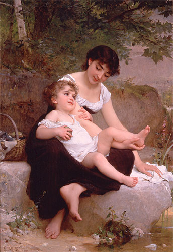 Emile Munier Mother and child. 1892